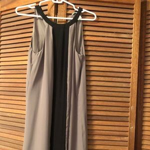 H&M dress, color block grey and black
